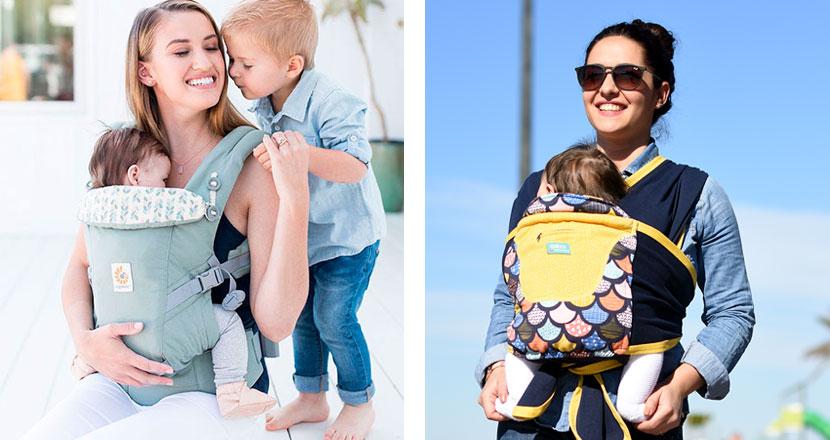 ергономични раници и слингове за носене на бебе